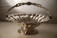 A Victorian Silver Plate Basket c1820