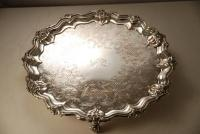 A Victorian Old Sheffield Plate Salver c1820