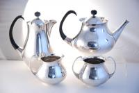 A Post War Silver Plate Tea Set by Eric Clements