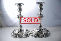 A Fine Pair of Early Victorian Candlesticks