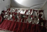 90pc Georg Jensen Sterling Silver Cutlery Set for 12- Acanthus