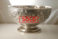 A Large Victorian Silver Rose Bowl