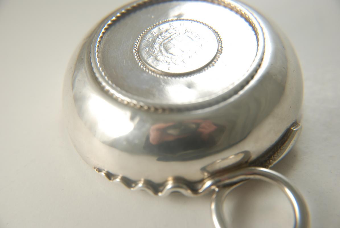An Antique French Silver Tastevin Or Wine Taster