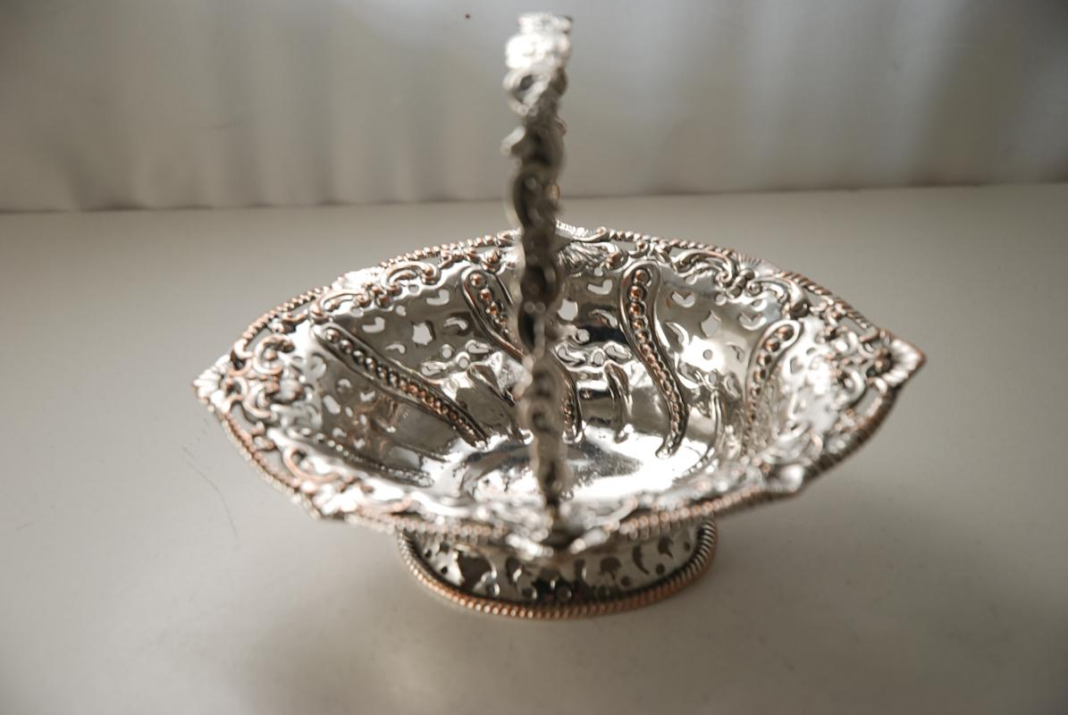 A First Period Old Sheffield Plate Sweetmeat Basket
