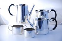 A five piece tea set by David Mellor