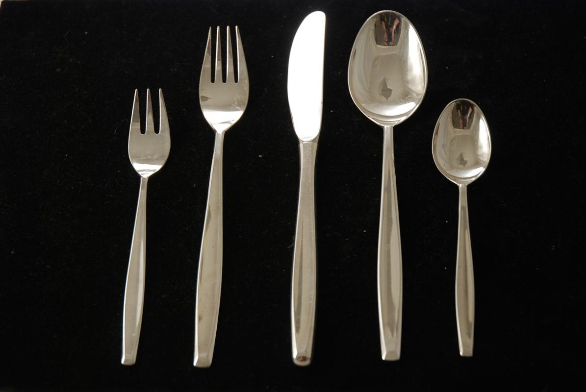 & A Silver Plated Flatware Set for Six