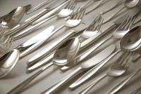 A Silver Plated Flatware Set for Six