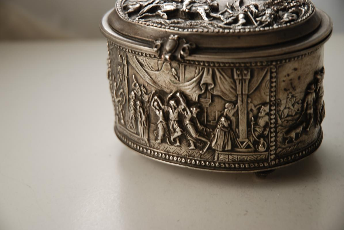 A Victorian Electrotype Silver Plated Jewelry Box