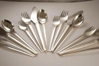 A Sterling Silver Flatware Set Of Georg Jensen In the Argo Pattern