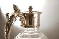 A Silver and Lead Crystal Claret Jug