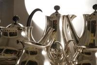 A Post War Silver Plated Tea Set Designed by Eric Clements