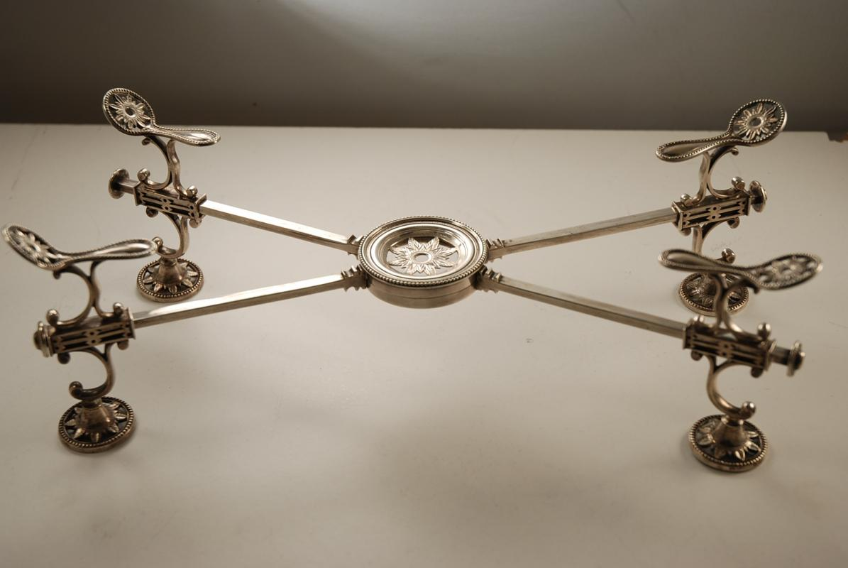 A Georgian Silver Dish Cross or Trivet