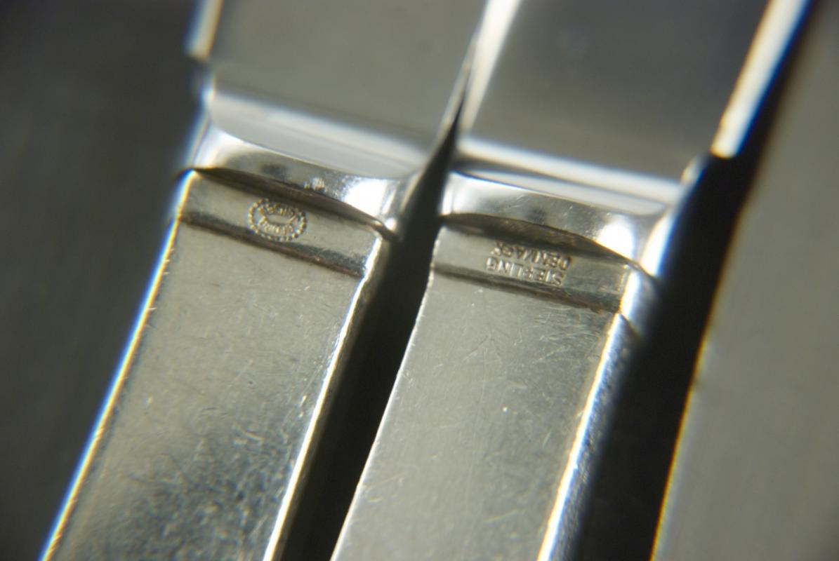 A Set of Georg Jensen Pyramid Pattern Butter Knives