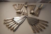 A Sterling Silver flatware set By Georg Jensen Silver in the Acanthus Pattern