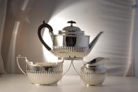 A Victorian Sterling Silver 3 Piece Tea Set